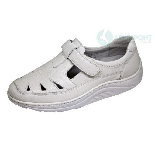 Waldlaufer dynamic lyukacsos tépőzáras cipő Helli bőr törtfehér