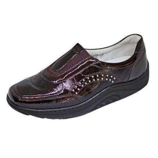 Waldlaufer dynamic gördülő talpú belebújós cipő Helli lakkbőr bordó