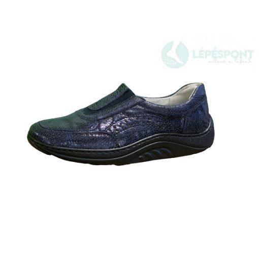 Waldlaufer dynamic belebújós cipő Helli bőr mintás kék