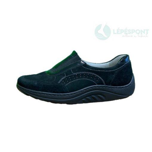 Waldlaufer dynamic gördülő talpú belebújós cipő Helli velúr/nubuk/lakkbőr fekete
