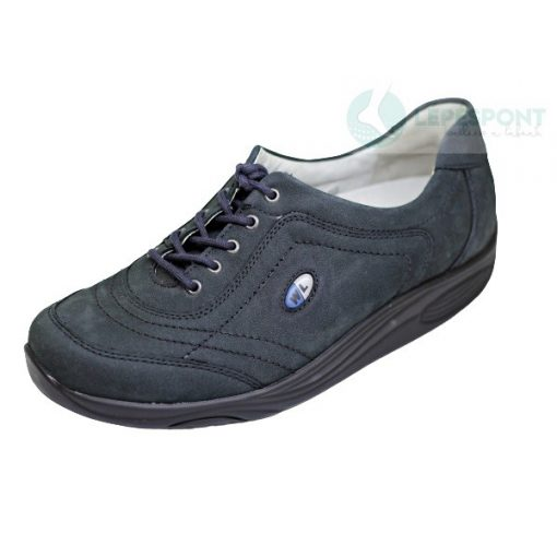 Waldlaufer dynamic gördülő talpú fűzős cipő Herina nubuk kék
