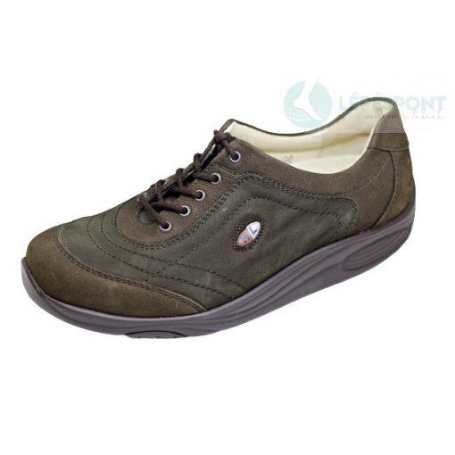 Waldlaufer dynamic gördülő talpú fűzős cipő Herina nubuk zöld