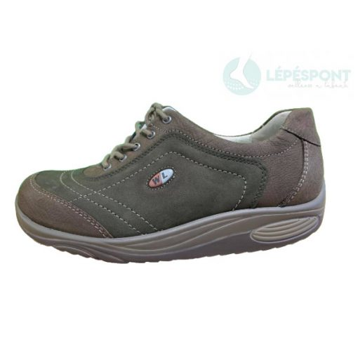 Waldlaufer dynamic gördülő talpú fűzős cipő Herina nubuk zöldesbarna