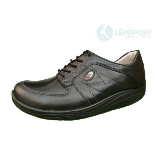Waldlaufer dynamic gördülő talpú fűzős cipő Herina bőr fekete