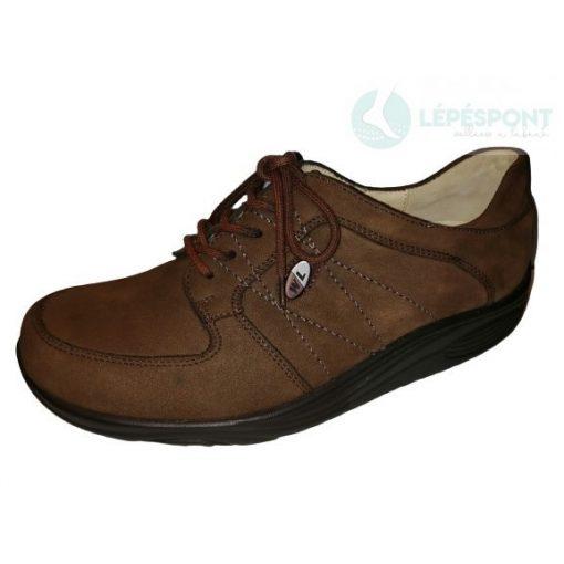 Waldlaufer dynamic gördülő talpú fűzős női cipő Herina nubuk barna
