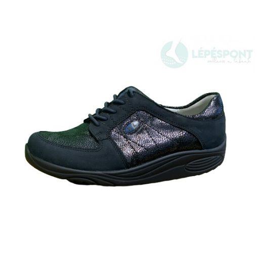 Waldlaufer dynamic fűzős cipő Herina nubuk mintás sötétkék
