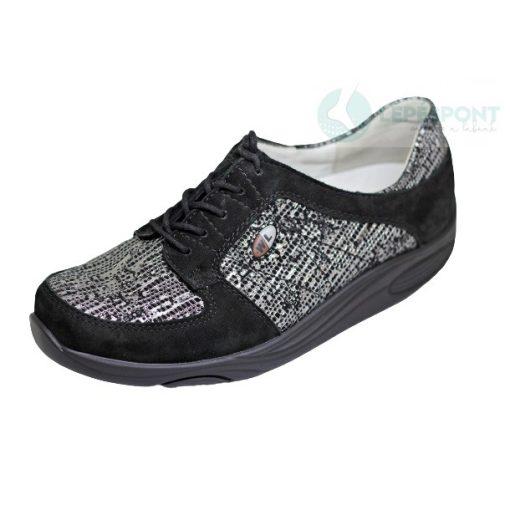 Waldlaufer dynamic fűzős cipő Herina nubuk fekete szürke
