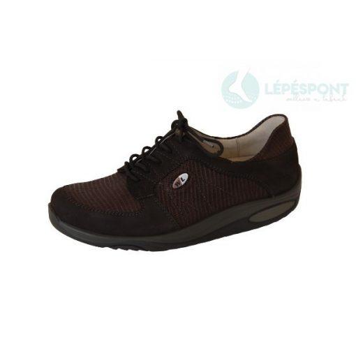 Waldlaufer dynamic gördülő talpú fűzős cipő Herina nubuk sötétbarna