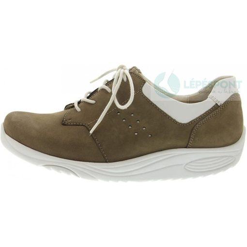 Waldlaufer dynamic gördülő talpú fűzős cipő Herina nubuk bézs fehér