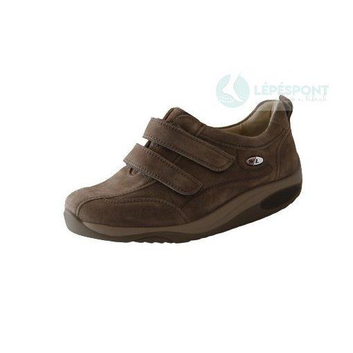 Waldlaufer dynamic gördülő talpú tépőzáras cipő Herina velúr világos bézs