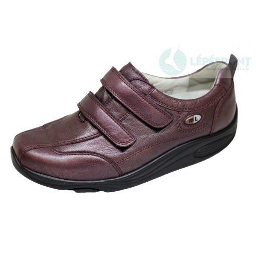 Waldlaufer dynamic gördülő talpú tépőzáras cipő Herina bőr bordó