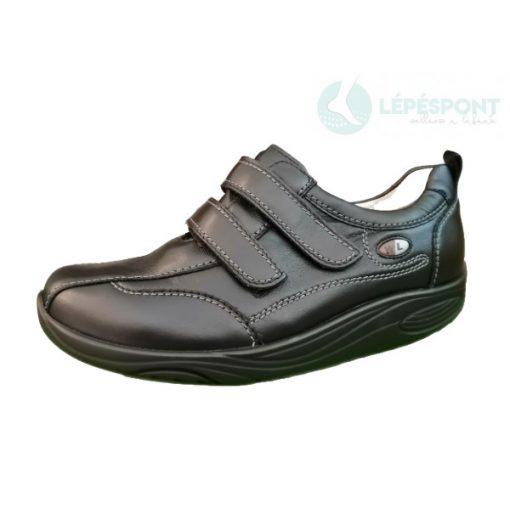 Waldlaufer dynamic gördülő talpú tépőzáras cipő Herina bőr fekete
