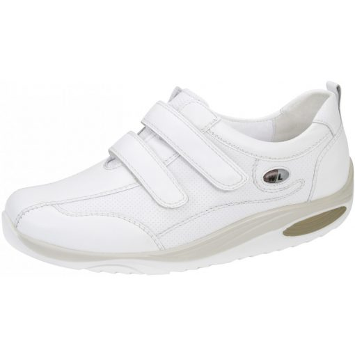 Waldlaufer dynamic gördülő talpú tépőzáras cipő Herina bőr fehér