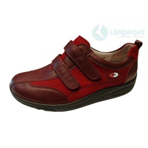 Waldlaufer dynamic gördülő talpú tépőzáras cipő Herina bőr nubuk bordó
