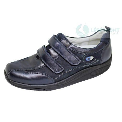 Waldlaufer dynamic gördülő talpú tépőzáras cipő Herina bőr sötétkék