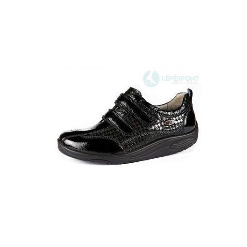 Waldlaufer dynamic tépőzáras cipő Herina lakkbőr fekete