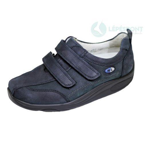 Waldlaufer dynamic gördülő talpú tépőzáras cipő Herina nubuk sötétkék