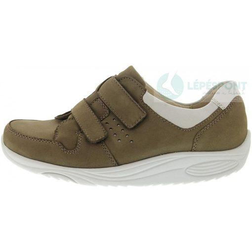 Waldlaufer dynamic gördülő talpú tépőzáras cipő Herina nubuk bézs fehér