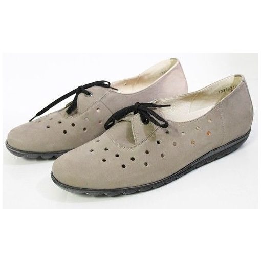 Waldlaufer kényelmi lyukacsos fűzős cipő Hadya nubuk drapp