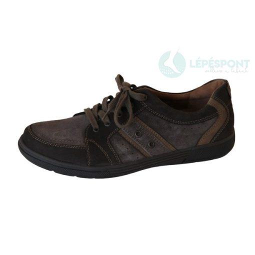 Waldlaufer kényelmi fűzős férfi cipő Heath velúr és nubuk sötétbarna