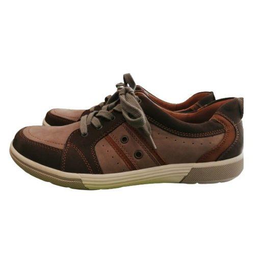 Waldlaufer kényelmi fűzős cipő Heath nubuk barna szürke