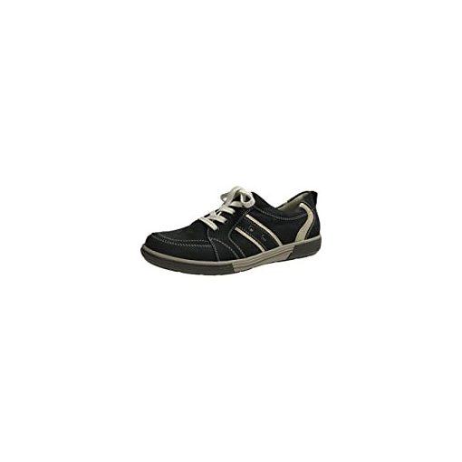Waldlaufer kényelmi fűzős cipő Heath nubuk fekete szürke