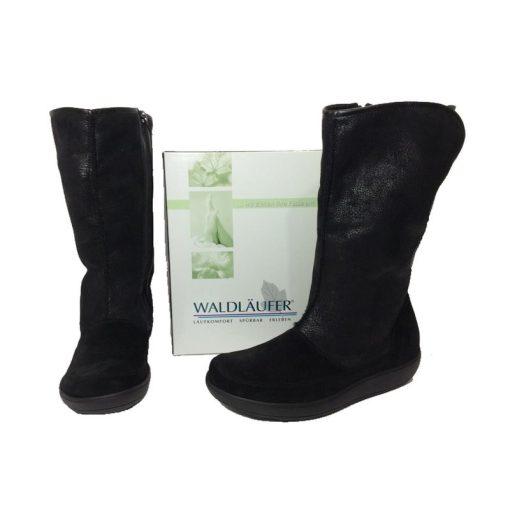 Waldlaufer kényelmi cipzáras csizma Huski velúr fekete