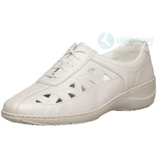 Waldlaufer kényelmi lyukacsos fűzős cipő Kya bőr világos drapp