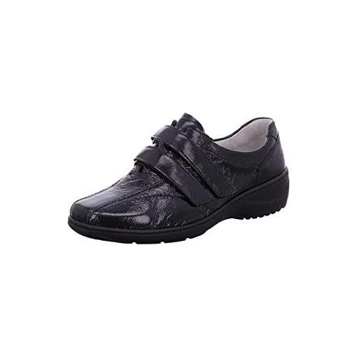 Waldlaufer kényelmi tépőzáras cipő Kya lakkbőr sötétkék