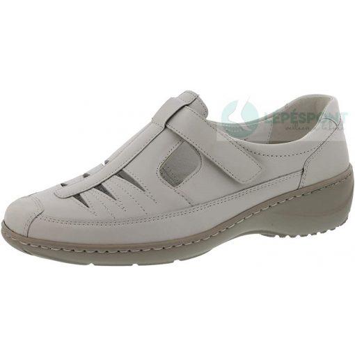 Waldlaufer kényelmi lyukacsos tépőzáras cipő Kya bőr törtfehér