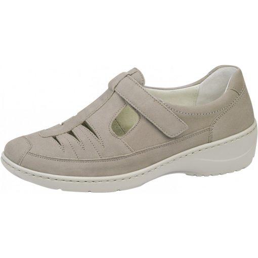 Waldlaufer kényelmi lyukacsos tépőzáras cipő Kya nubuk bézs