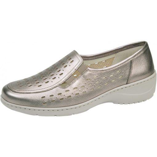 Waldlaufer kényelmi lyukacsos belebújós cipő Kya bőr fényes arany