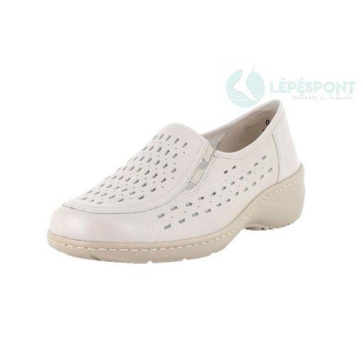 Waldlaufer kényelmi lyukacsos belebújós cipő Kya bőr drapp