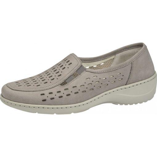 Waldlaufer kényelmi lyukacsos belebújós cipő Kya nubuk bézs
