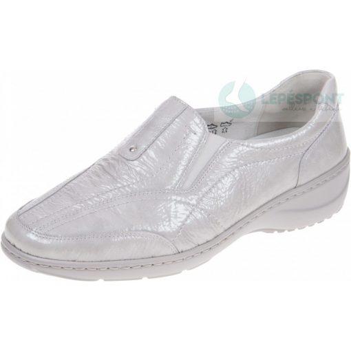 Waldlaufer kényelmi belebújós cipő Kya lakkbőr szürke