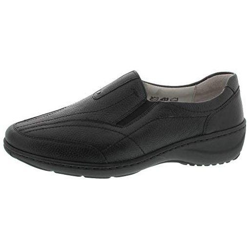 Waldlaufer kényelmi belebújós cipő Kya bőr fekete