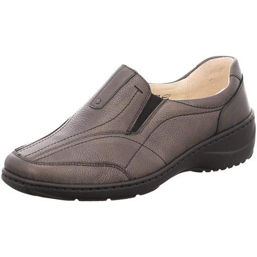 Waldlaufer kényelmi belebújós cipő Kya bőr sötétzöld