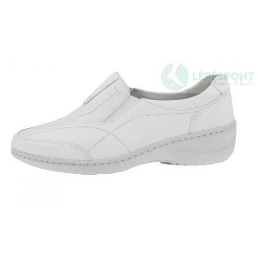 Waldlaufer kényelmi belebújós cipő Kya bőr fehér