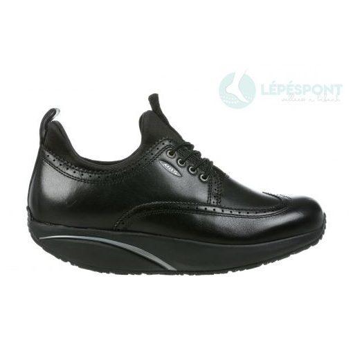 MBT fűzős cipő Pate bőr fekete