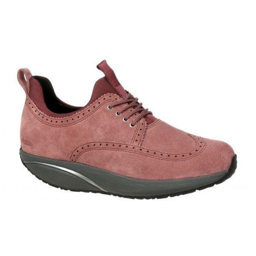 MBT fűzős cipő Pate velúrbőr rózsaszín