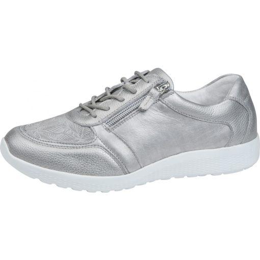 Waldlaufer Ortho Tritt fűzős cipzáras cipő M-Iris bőr/sztreccs drapp
