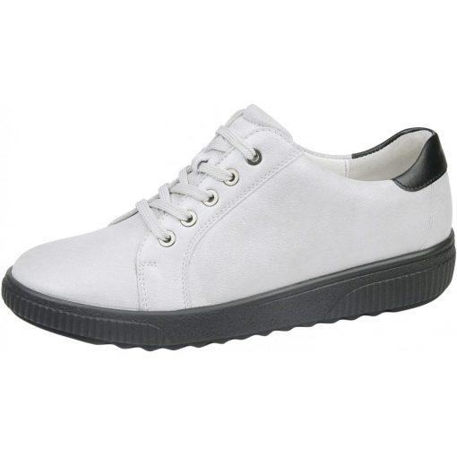 Waldlaufer kényelmi fűzős cipő H-Steffi bőr törtfehér
