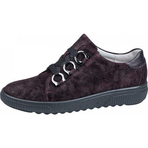 Waldlaufer kényelmi fűzős cipő H-Steffi velúr bordó