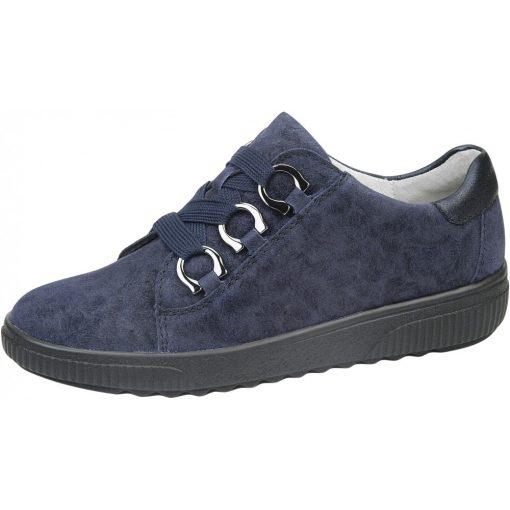 Waldlaufer kényelmi fűzős cipő H-Steffi velúr sötétkék