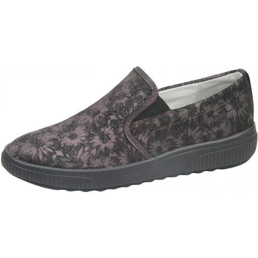 Waldlaufer kényelmi belebújós cipő H-Steffi bőr mintás bordó