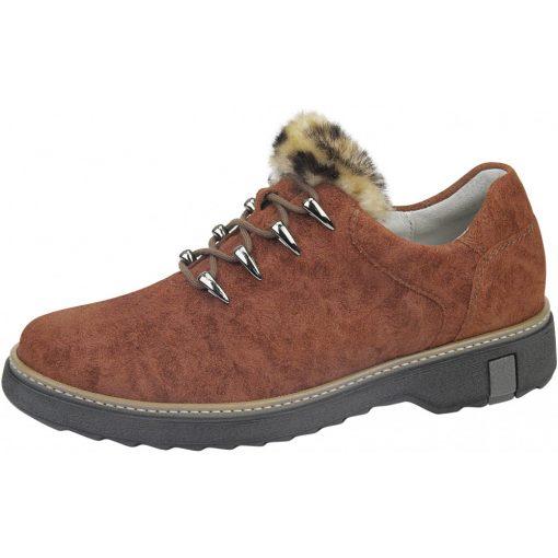 Waldlaufer kényelmi fűzős cipő Hitomi velúrbőr barna