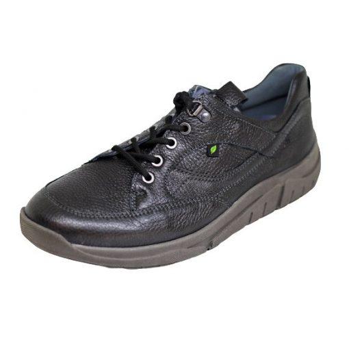 Waldlaufer kényelmi fűzős cipő Hanson bőr fekete