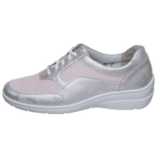 Waldlaufer kényelmi fűzős cipő Hania bőr halvány rózsaszín