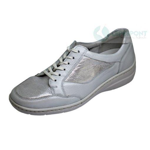 Waldlaufer kényelmi fűzős cipő Hania bőr ezüst