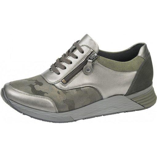 Waldlaufer Ortho Tritt fűzős cipzáras cipő Halice bőr/sztreccs/velúr/nubuk zöld szürke